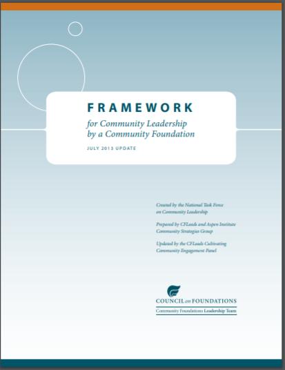 Cover of the Framework for Community Leadership